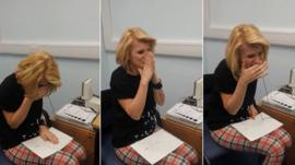 Joanne Milne hears for the first time