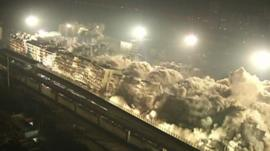 Buildings demolished in China
