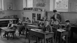 One of the final lessons in Capel Celyn School in October 1962