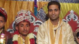 Gani Ansari and his Mit at his wedding