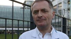 Professor Philippe Juvin outside the Hopital Europee Georges Pompidou in Paris.