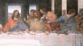 Detail of Leonardo da Vinci's The Last Supper
