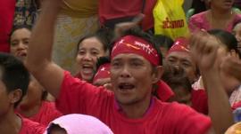 NLD supporters celebrating