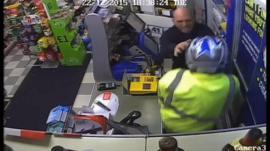 CCTV of an armed raid in Norwich
