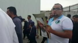 Protesters in the Qatif region