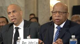 Cory Booker and John Lewis