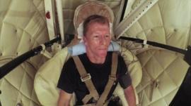 Tim Peake inside centrifuge