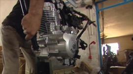 Motorbike engine