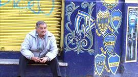 Boca Juniors colours in Buenos Aires