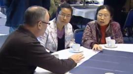 Delegates at the conference on endangered languages