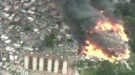 Fire in Sao Paulo