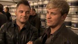 Westlife's Shane and Kian