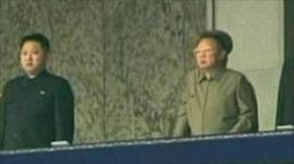 Kim Jong-un and Kim Jong-il