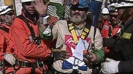 Jorge Galleguillos is the eleventh miner to be rescued in Chile