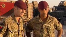 Private Danny Elvestad and Corporal James Campbell