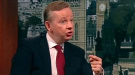 Education Secretary Michael Gove on the Andrew Marr Show