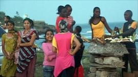 Sunday evening at Mombasa's lighthouse