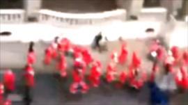 Santa flashmob