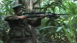 Soldiers searching for drugs gangs in Guatemala