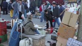 Street market in Greece