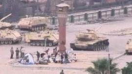 Tanks in Cairo