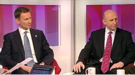 John Healey and Jeremy Hunt