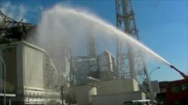 Water sprayed on reactor 3