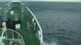 Japanese Coast Guard video of ship