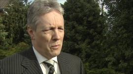Northern Ireland's First Minister and leader of the Democratic Unionist Party, Peter Robinson
