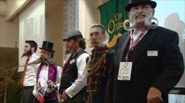 Moustache championship competitors