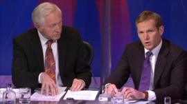 David Dimbleby with Jeremy Browne