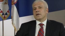 Serbian president, Boris Tadic