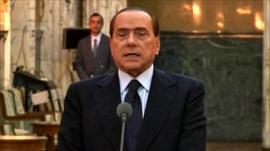 Silvio Berlusconi in Romania on Monday