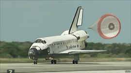 Discovery landing