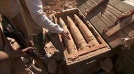 Weapons captured by Libyan rebels