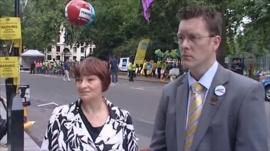 NUT's Christine Blower and Andy Brown of the Association of Teachers and Lecturers