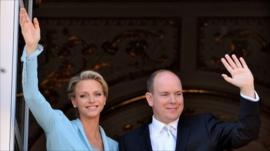 Prince Albert II and Charlene Wittstock
