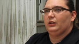 Woman, name not given, living in Albertville