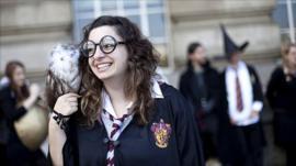 Harry Potter fan in London