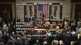 Voting ends on the bill in the US House of Representatives