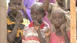 Child refugees at Dadaab camp