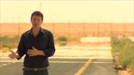 Ian Pannell on the road to Bani Walid