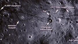 Nasa image of moon surface
