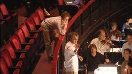 Paul McCartney at rehearsals