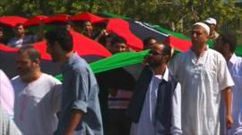 Protesters in Tripoli