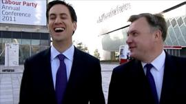Ed Balls and Ed Millband at the Labour party conference