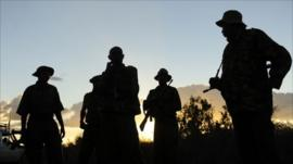 Kenyan security forces near the border with Somalia