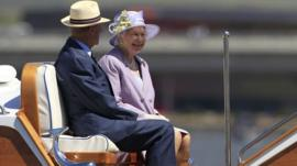The Queen takes a cruise in Canberra