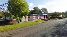 Fire station in Glaisnock Street