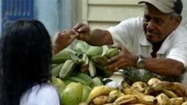 Market stall in Cuba